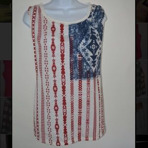 Rue21 American flag tank top w/ cut out back